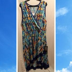 Size 26/28 Avenue Maxi Dress Colorful Slinky NWT